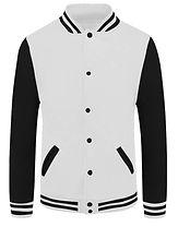 baseball jacket_02_Black sleeve white bo