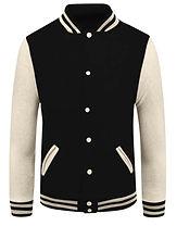 baseball jacket_02_Beige sleeve Black bo