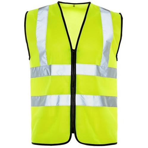 zip up hi vis vest
