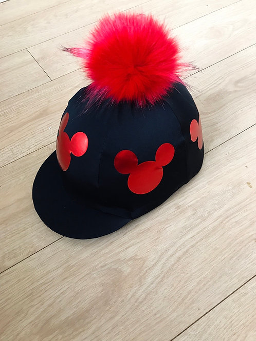 Red Mouse head hat silk