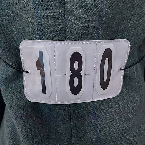 Reusable showing back numbers