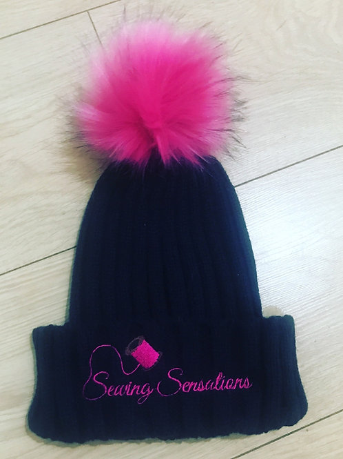 Personalised wooly hat with Pom Pom