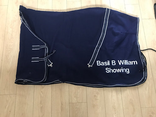 Personalised Navy Show Rug