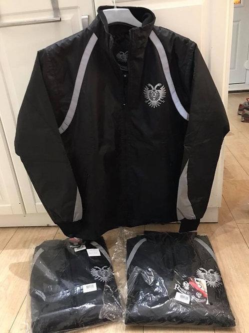 Waterproof jacket with hi vis strips
