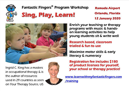 Fantastic Fingers Workshop Florida