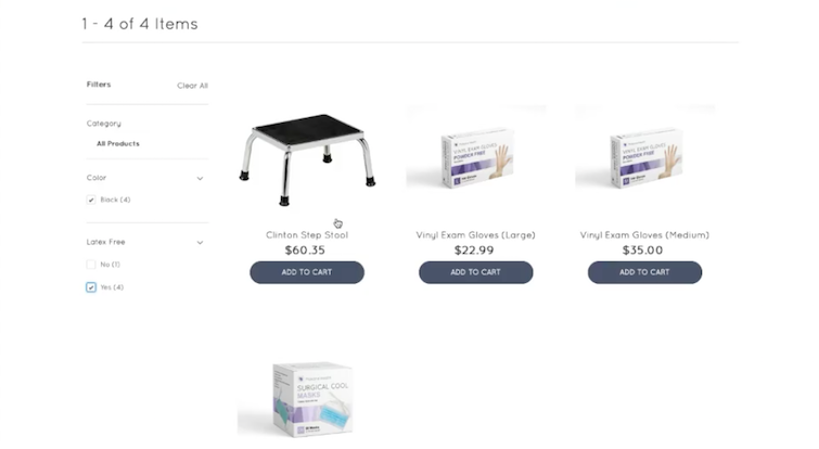 Salesforce Marketing Cloud & B2B Commerce working together - product description page.