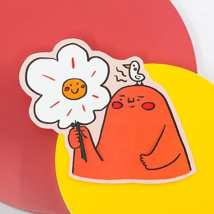 像一朵小花笑笑的 / sticker