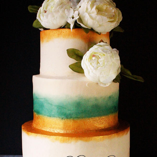 antique wedding cake brighter logo in mi
