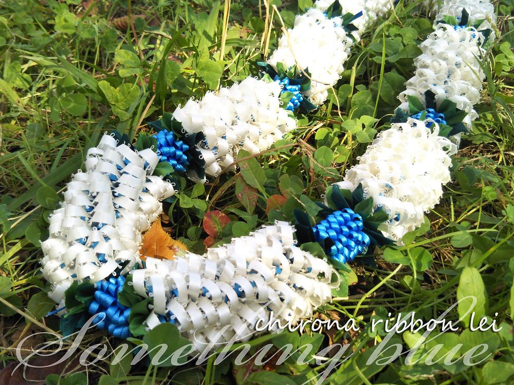 something blue[chirona ribbon lei]