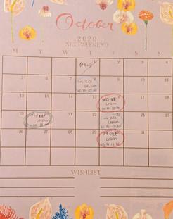2020年10月のレッスン日程