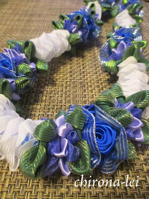 blue rose & white Pua kenikeni
