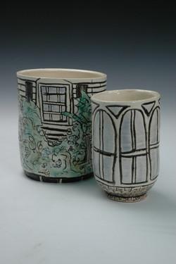 Creeping Vines and Windows Vases