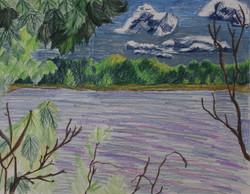 Moss Lake Windy Day