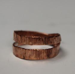 hammered loop ring