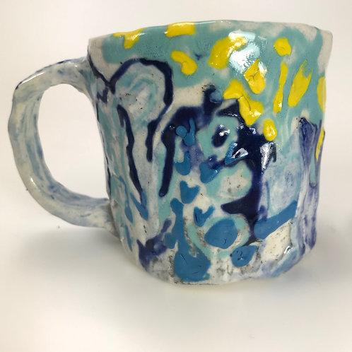 Yellow and Blue Mingle Petite Mug
