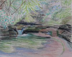 Waterfall Flowing Softly StonyBrooke