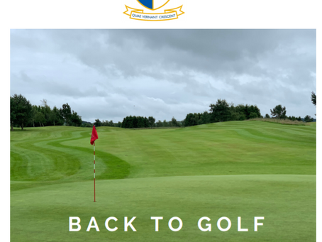 Back to Golf | Re-Opening Plan