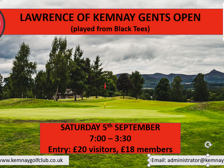 Lawrence of Kemnay Gents Open results