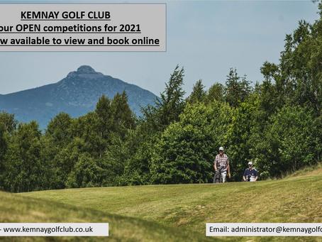 2021 Opens now online