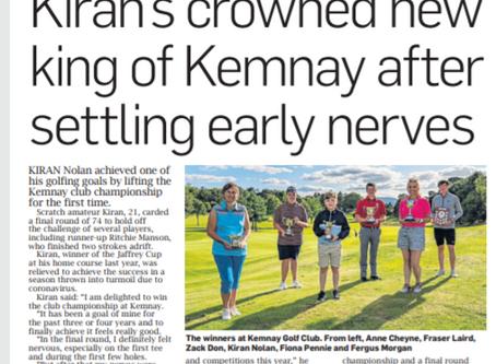 Club Championship Press article