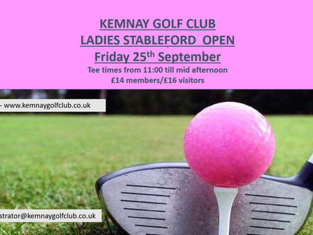 Ladies Stableford Open results