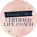 Beautiful You Coaching Academy Certified Life Coach. Black writing on pink marble background