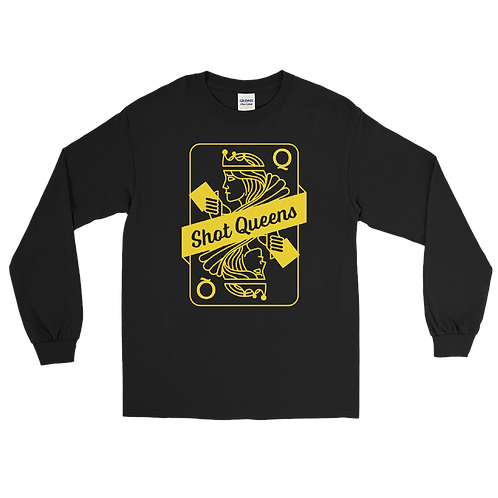 Shot Queens Cornhole Classic Yellow Card - Long Sleeve Shirt