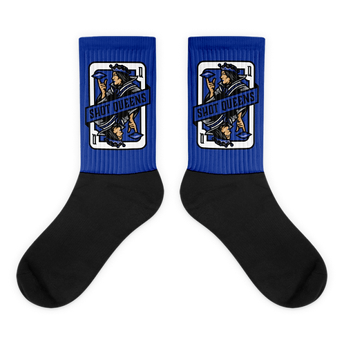 Shot Queens Cornhole Card Blue - Socks