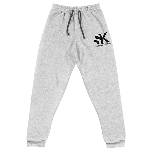 SK Grey and Black Unisex Joggers