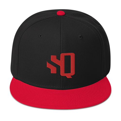 SQ Red Logo Red Brim - Snapback Hat