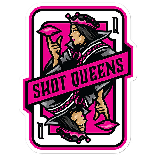 Shot Queens Cornhole Pink Card - Bubble-free stickers