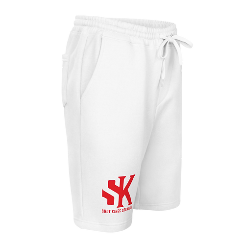 SK Red and White or Gray Men's fleece shorts