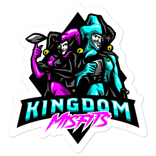 Kingdom Misfits Pink and Teal - Bubble-free stickers