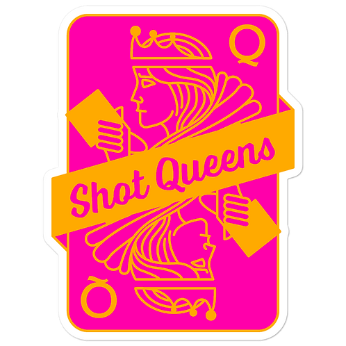 SQ Orange and Pink Bubble-free stickers