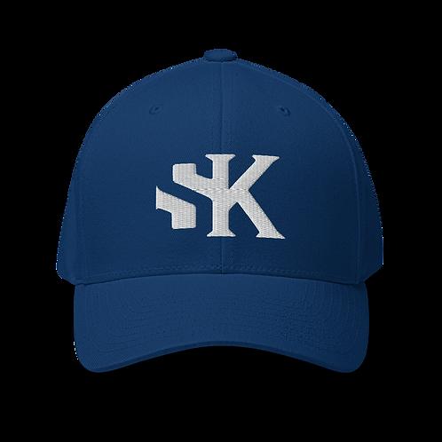 Shot Kings Cornhole White SK Logo - Structured Twill Cap