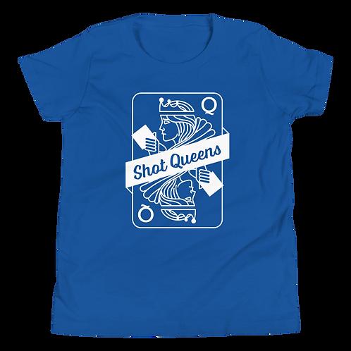Shot Queens Cornhole Royal Blue - Youth Short Sleeve T-Shirt