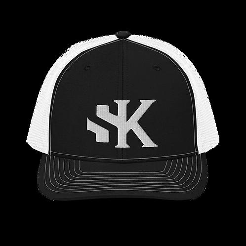 SK White Logo Richardson Trucker Cap