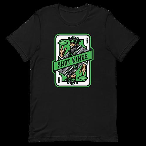 Shot Kings Card 2.0 - Green - Short-Sleeve Unisex T-Shirt
