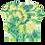 Thumbnail: Puff the Bagon Dragon Green Tye Dye - All-Over Print Crop Tee