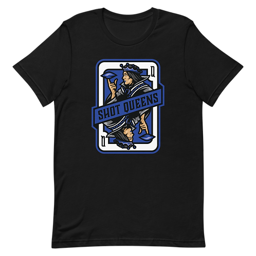 Shot Queens Cornhole 2.0 Blue - Short-Sleeve Unisex T-Shirt