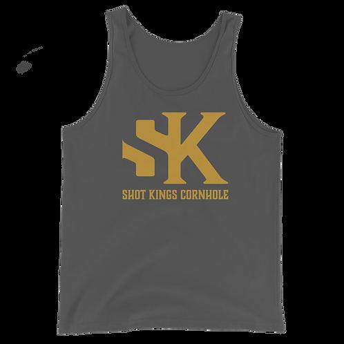 Gold SK Shot Kings Unisex Tank Top