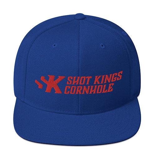 Shot Kings Cornhole Red Logo - Royal Blue Snapback Hat