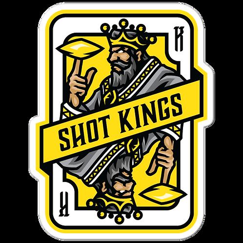 Shot Kings Cornhole 2.0 Yellow Card - Bubble-free stickers