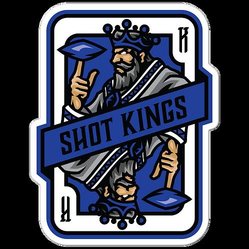 Shot Kings Cornhole 2.0 Blue Card - Bubble-free stickers