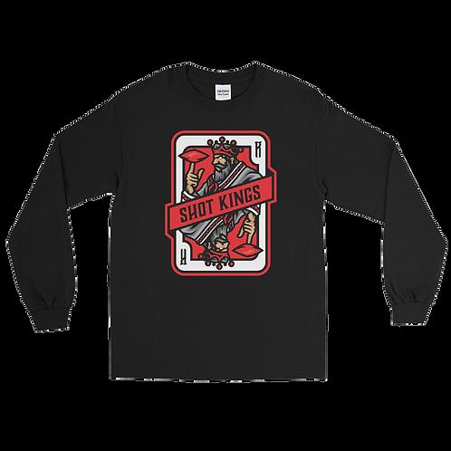 Shot Kings Cornhole 2.0 Red Card - Men's Long Sleeve Shirt