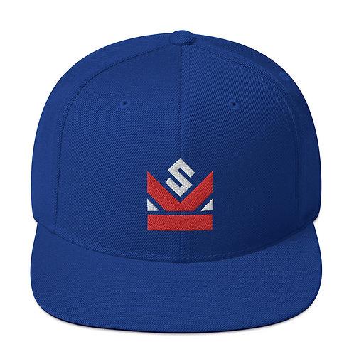 Shot Kings Cornhole Crown Logo - Royal Blue Snapback Hat