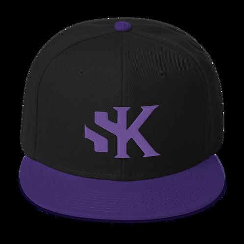 SK Purple Logo Purple Brim - Snapback Hat