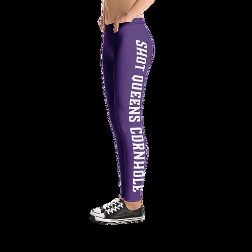 Shot Queen Cornhole Leggings- Purple