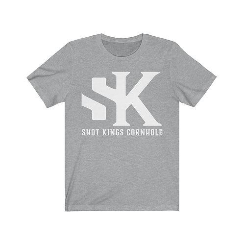 White SK Logo - Unisex Jersey Short Sleeve Tee