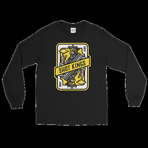 Shot Kings Cornhole 2.0 Yellow Card - Men's Long Sleeve Shirt